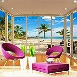 Papel Pintado Fotográfico Foto la moderna personalizados 3d playa paisaje Tema habitación de hotel–Papel pintado pared toalla Textile Waterproof Seasonic Cape Murals Salón