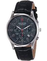 Swiss Military Hanowa Herren-Armbanduhr XL Analog Quarz Leder 06-4187.04.007