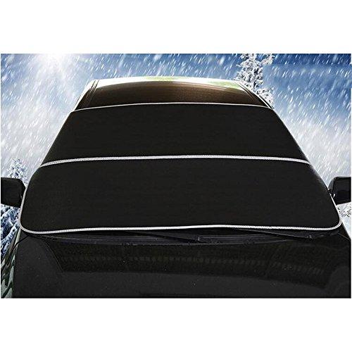 Delmkin Autoabdeckung Winterschutz Scheibenabdeckung Auto Halbgarage für Winter und Sommer - 200 * 95cm (schwarz)