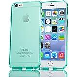 iPhone 6 6S Hülle Handyhülle von NICA, Ultra-Slim Silikon Case Crystal Schutzhülle Dünn Durchsichtig, Handy-Tasche Back-Cover Transparent Bumper für Apple iPhone 6S 6 - Türkis Transparent