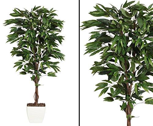 Künstlicher günstiger Mangobaum 150cm – Kunstpflanze Kunstbaum künstliche Bäume Kunstbäume Gummibaum Kunstoffpflanzen Dekopflanzen Textilpflanzen Textilbäume Pflanzen aus