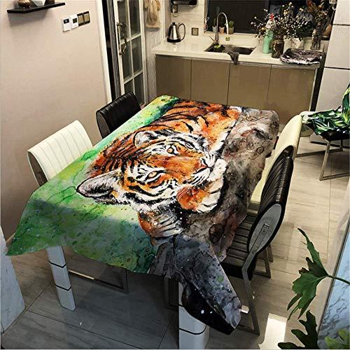 SONGHJ Polyester Baumwolle Gedruckt Tier Tischdecke Küche Hause wasserdichte Tischdecke Festliche Halloween Dekoration Tischdecke D 90x90cm / - Kostüm D'halloween Indienne