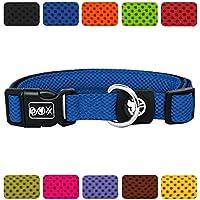 [Gesponsert]DDOXX Hundehalsband Air Mesh | für Große, Mittelgroße, Mittlere & Kleine Hunde | Halsband Hund | Katze | Hundehalsbänder | Katzen Halsbänder | Katzenhalsband | Blau, XS - 1,5 x 21-30 cm