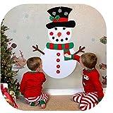 Happy Event DIY Filz Weihnachten Schneemann Set Mit Ornamenten Für Kinder Tür Wandbehang