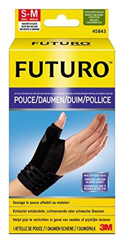 Futuro Schiene (FUTURO FUT45843 Daumen Schiene, latexfrei, S - M, schwarz)