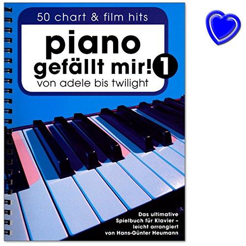 Piano gefällt mir! Band 1 Spiralbindung - 50 Chart und Film Hits von Adele bis Twilight. Das ultimative Spielbuch für Klavier mit Notenklammer - BOE7788-9783865438911 -