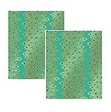 2Blatt von Pfau Herz Jade Luxus Geschenkpapier, Museum und Galerien Collection