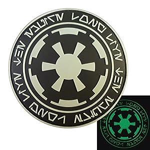 Glow Dark Star Wars Galactic Empire Long Live the Empire Aurebesh Insigne PVC Velcro Écusson Patch