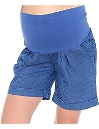 Mija - Kurze Jeans Umstandsshorts/Umstandshose mit Bauchband für Sommer 1045
