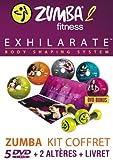ZUMBA - 2 - EXHILARATE - Coffret 5 DVD+ 2 Haltères + 1 Livret - Version Française