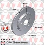 Bremsscheibe COAT Z - Zimmermann 430.2618.20