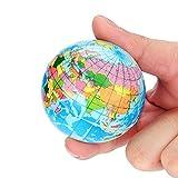 Wokee Squeeze Weltkarte Ball Globus Palm Ball Planeten Erde Squishy Spielzeug Langsam Rising Decompression Hochwertiges Duft Anti Stress Druck Spielzeug (60CM)