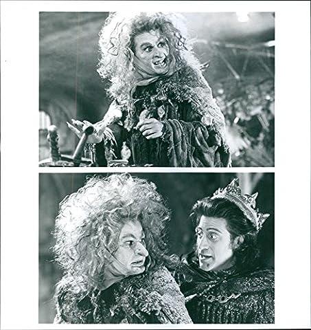 Vintage Photo de Tracey Ullman et Richard Lewis étoiles dans un 1993américain Adventure Comédie Musical,