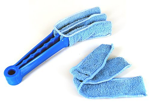 niceeshoptm-microfibre-triple-blind-cleaner-mitt-venetian-slats-blinds-duster-blue