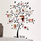 Liudaye Pared Negro árbol Portafotos con Etiqueta engomada desprendible de la Pared