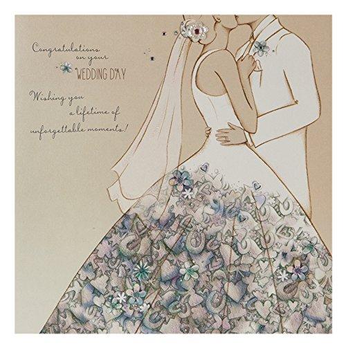 """Hallmark Hochzeitskarte """"Unforgettable Moments"""", quadratisch, groß [nicht in deutscher Sprache] Unvergessliche Momente Unforgettable Moments"""