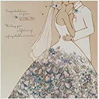 Hallmark Wedding Card 'Unforgettable Moments' - Large Square