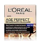 L'Oréal Paris Age Perfect Renaissance Cellulaire Crema Viso Antirughe Ricostituente Notte, Pelli Mature, 50 ml
