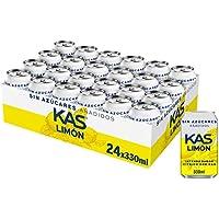 Kas Limon Zero, Refresco con Gas 24 Unidades 330 g - Pack de 24
