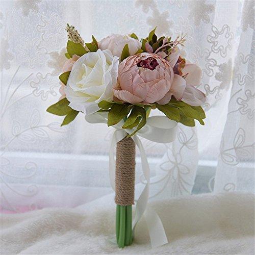 Sposa Bouquet Peonie.Fouriding Bouquet Da Sposa Bouquet Di Peonia Fiori Artificiali Fiori Vintage Decorazione Di Nozze