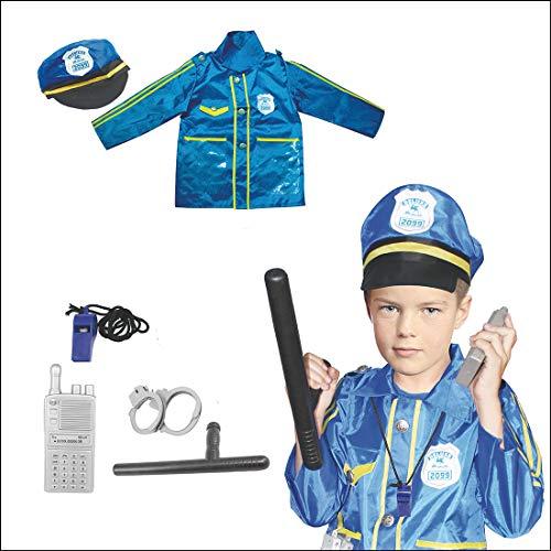 GODNECE Polizei Zubehör für Kinder, Polizist Kostüm Set Rollenspiel Polizei Kinder