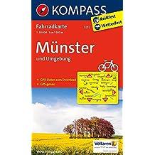 Münster und Umgebung: Fahrradkarte mit GPS-Daten zum Download. GPS-genau. 1:50000 (KOMPASS-Fahrradkarten Deutschland, Band 3212)