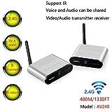 Measy 400M/1330FT AV240 2.4G Wireless AV Audio & Video Sender Transmitter & Receiver System for DVD/DVR / IPTV/CCTV Camera/TV