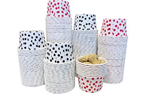 Candy Nut Mini-Backförmchen für Leckerlis, weiße Punkte und weiße schwarze Punkte, 200 Stück (Nuts-box)