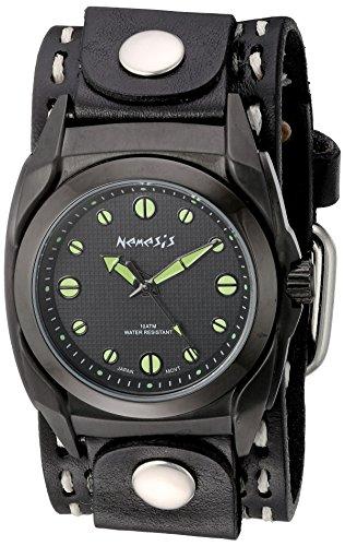 Nemesis 081KDSTHG - Reloj de pulsera hombre, piel, color Negro
