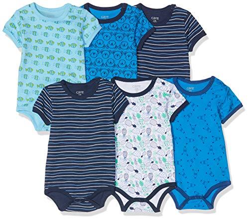 Care Baby - Jungen Kurzarm-Body im 3er und 6er Pack Blau (Dress Blues 772), Herstellergröße: 86
