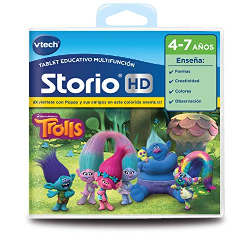 VTech- Cartucho para Storio, Trolls (3480-271022)