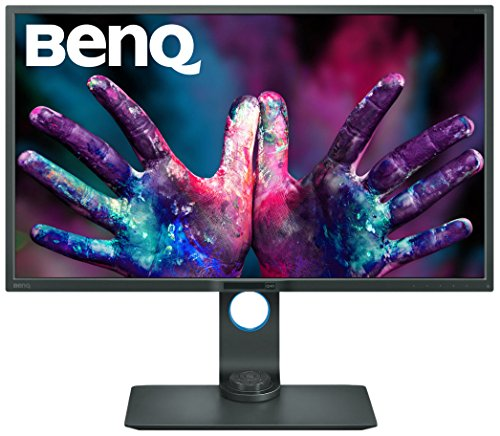 BenQ PD3200Q 32-inch 2K QHD Designer Monitor (2560 x 1440, 2K QHD, 100% Rec 709, sRGB, CAD/CAM, Animation, Darkroom Mode, KVM, Hotkey Puck, DualView, Low Blue Light, Flicker-Free) - Black