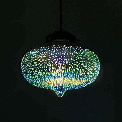 QAZ 3D-Kronleuchter aus Murano-Glas Kunst Leuchten kreative Persönlichkeit Retro Restaurant Wohnzimmer Schlafzimmer Bar Bar Beleuchtungskörper