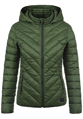 BLEND SHE Sienna Damen Steppjacke Übergangsjacke mit Kapuze aus hochwertiger Materialqualität, Größe:L, Farbe:Duffle Bag Green (77019)