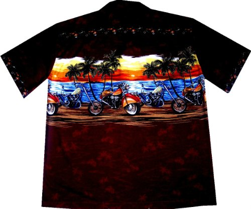 Chemise Hawaienne On the Road fabriquée original a Hawaii taille 3XL - S Rouge