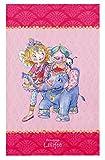 Prinzessin Lillifee Kinderteppich Weich und Soft für Mädchen, mit Elefant und Schwein, Größe 80x150 cm, Farbe Pink, Öko-Tex zertifiziert für Kinderzimmer und Babyzimmer