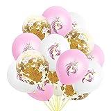 Palloncino in lattice 15PCS 30,5cm rose Gold confetti Unicorn party decorazione unicorno rosa palloncini a elio per decorazione di nozze Halloween festa di compleanno
