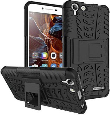 Chevron Hybrid Military Grade Armor Kick Stand Back Cover Case for Lenovo Vibe K5 Plus / Lenovo Vibe K5 (Black)