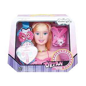 mysticall Maquillaje Muñeca de Juguete para niña, niñas Peinado de peluquería Juego de Juego de Cabeza con Accesorios Juego de Regalo para niños