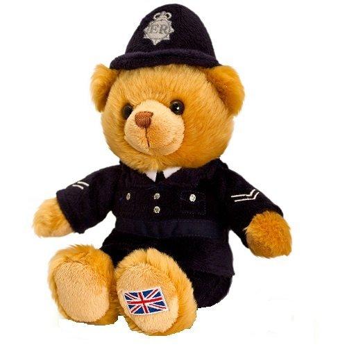 Keel Toys 19cm Policeman Hug Me Bear by Keel Toys