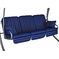 Coussin pour balancelle Comfort (3 places) Design Faro bleu (balancelle non-incluse)