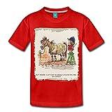 Spreadshirt Thelwell Pferd Beim Friseur Kinder Premium T-Shirt, 134/140 (8 Jahre), Rot