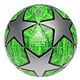 adidas Liga de Campeones Finale Replica Match Ball Cap Balón de Fútbol, Hombre (Verde/Plata/Madrid 2019 Champions League, tamaño 4) 8 a 12 años.
