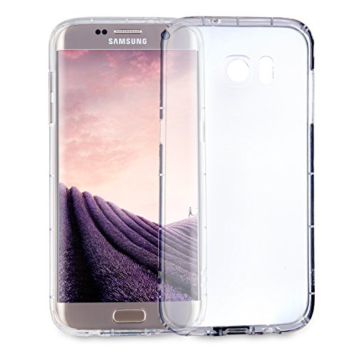 MyGadget Hülle TPU Case [Bumper Schutz] für Samsung Galaxy S7 Edge - Crystal Clear & Stoßfest Schutzhülle - Silikon Back Cover Handyhülle Transparent Clear Crystal Hard Case Cover