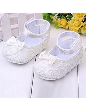 srovfidy zapatos para bebé (antideslizantes y cómodos (0–6meses, Blanco)