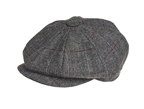 Peaky Blinders - Boina - Hombre Gris Grey Overcheck