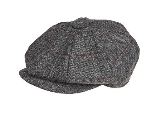 Gorra de Peaky Blinders, en 8piezas, 100% lana, de estilo chico repartidor...