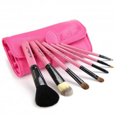 Kit de 7 pinceaux maquillage basiques Travel kit - Rose
