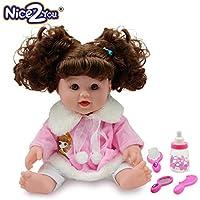 Nice2you Muñecas de Niña Set Muñecas de Moda DE 12 Pulgadas para Niños bebé renacido Realista