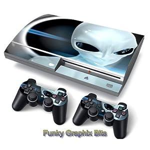Funky Planet PS3 Fat PlayStation3 Fat Designfolie Sticker Skin Set für Konsole + 2 Controller by
